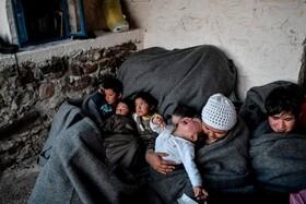 (تصاویر) گروهی از مهاجران در جزیره لسبوس یونان