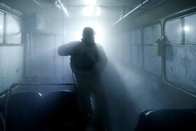 (تصاویر) پاکسازی اتوبوسی در ایروان ارمنستان علیه ویروس کرونا