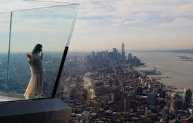 (تصاویر) افتتاح ایوان دید سیصدوشصت درجه ای در بلندترین ارتفاع در نیویورک آمریکا