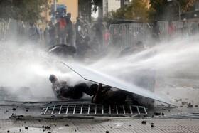 (تصاویر) تظاهرات در سانتیاگو شیلی