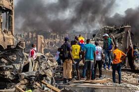(تصاویر) خرابی های ناشی از انفجار گاز در لاگوس نیجریه