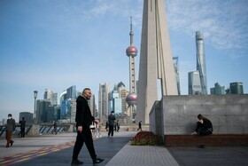 (تصاویر) خیابان های خلوت در شانگهای چین