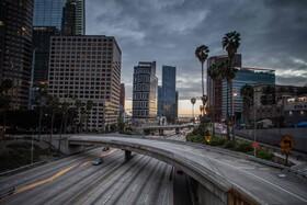 (تصاویر) خیابان های خلوت در لوس آنجلس از نگرانی کرونا