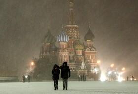 (تصاویر) شدت گرفتن سرما در مسکو روسیه