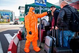 (تصاویر) مرز لهستان با آلمان که ورودی ها به لهستان از نظر ابتلا به کرونا بررسی می شوند