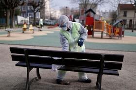 (تصاویر) پاکسازی که پارک بازی کودکان در فرانسه