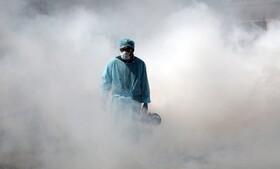 (تصاویر) ضد عفونی مراکز عمومی در جامو مرکز کشمیر هند