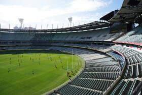 (تصاویر) بازی تیم های راگبی در لیگ قهرمانی استرالیا بدون تماشاچی