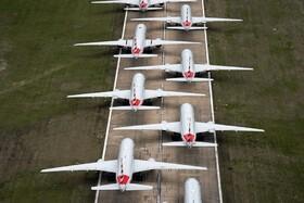 (تصاویر) توقف هواپیماهای مسافری در اوکلاهوما در آمریکا