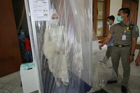 (تصاویر) عروسی در قرنطینه در اندونزی