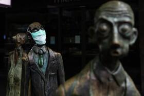(تصاویر) مجسمه ای در ملبورن استرالیا با ماسک