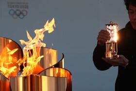 (تصاویر) مشعل المپیک در ایواکی ژاپن