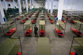 (تصاویر) مرکز بستری موقت برای بیماران کرونایی در بارسلون اسپانیا