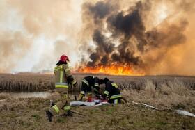 (تصاویر) آتش سوزی مراتع در لهستان