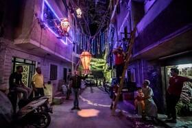(تصاویر) تزیین کوچه ای در قاهره مصر به مناسبت فرارسیدن ماه رمضان