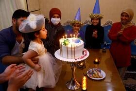 (تصاویر) جشن تولد در نجف عراق در جریان شیوع کرونا