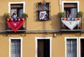 (تصاویر) قرنطینه در اسپانیا