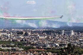 (تصاویر) نمایش هوایی در رم ایتالیا