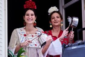 (تصاویر) مراسم جشن سنتی در مادرید اسپانیا در قرنطینه