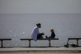 (تصاویر) بارسلونا اسپانیا و مادرو فرزندی در دوران کرونا