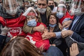(تصاویر) تظاهرات روز کارگر در استانبول ترکیه