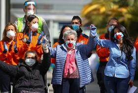 (تصاویر) سه بیمار در مادرید اسپانیا پس از بهبود کرونا از بیمارستان مرخص می شوند