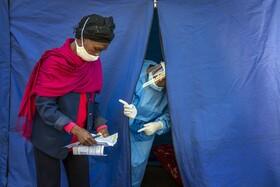 (تصاویر) محل آزمایش برای شناسایی بیماران کرونا در ژوهانس بورگ آفریقای جنوبی