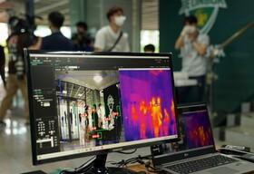 (تصاویر) آغاز بازی های لیگ فوتبال کره جنوبی با نظارت دوربین های حرارت سنج برای شناسایی بیماران احتمالی