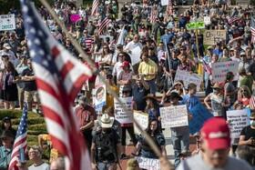 (تصاویر) تظاهرات علیه قرنطینه در آمریکا