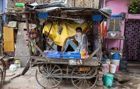(تصاویر) دستفروشی در دهلی هند