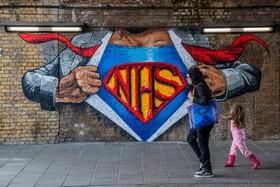 (تصاویر) نقاشی دیواری برای تشکر از کادر درمانی در انگلیس