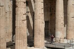 (تصاویر) خلوتی بناهای تاریخی در آتن یونان به دلیل شیوع کرونا