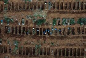 (تصاویر) قبرهایی که برای بیماران کرونایی در برزیل آماده شده است
