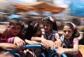 (تصاویر) کودکان سوری در حال بازی در ادلب