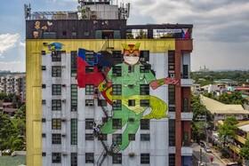(تصاویر) نقاشی دیواری تشکر از کادر پزشکی در فلیپین