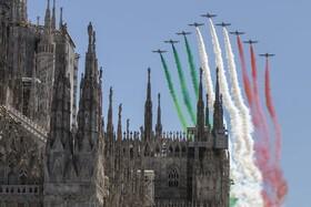 (تصاویر) نمایش هوایی در ایتالیا برای روز جمهوری ایتالیا