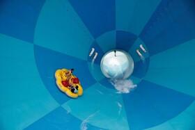 (تصاویر) بازگشایی مراکز تفریحی در کره جنوبی و راه افتادن سرسره آبی