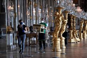 (تصاویر) آماده سازی کاخ روسای در فرانسه برای بازگشایی پس از  هشتاد روز تعطیلی