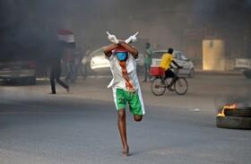(تصاویر) تظاهرات ضد دولتی در دوران کرونا در خارطوم سودان