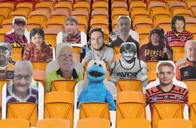 (تصاویر) تماشاچیان کاغذی در ورزشگاه راگبی در استرالیا
