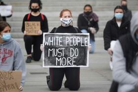 (تصاویر) تظاهرات علیه نژاد پرستی در انگلیس