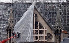 (تصاویر) ادامه بازسازی کلیسای نوتردام در پاریس فرانسه