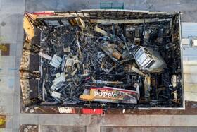 (تصاویر) بقایای ساختمانی که در مینیاپولیس آمریکا در جریان تظاهرات علیه نژاد پرستی به آتش کشیده شد