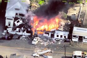 (تصاویر) آتش سوزی در محلیه ای در کالیفرنیای آمریکا