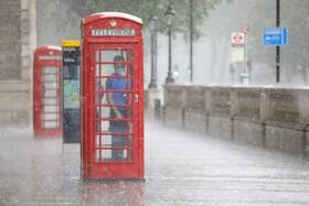 (تصاویر) بارندگی در لندن