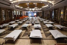(تصاویر) آماده سازی محلی برای قرنطینه شدن بیماران در دهلی