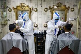 (تصاویر) بازگشایی آرایشگاه ها در بنگلادش