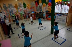 (تصاویر) بازگشایی مهد کودک ها در تایلند