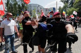 (تصاویر) تظاهرات در کیف اکراین