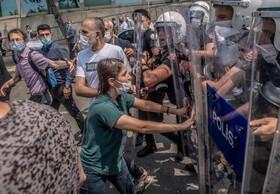 (تصاویر) تظاهرات علیه دولت اردوغان به دلیل بازداشت سه نماینده مجلس ترکیه